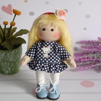 Текстильная кукла. Маленькая куколка. Кукла а подарок. Кукла для девочки.