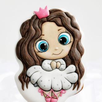 Пряник Принцесса. Пряник для девочки. Пряник на День Рождения.