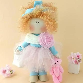 Кукла текстильная.Кукла. Кукла кудрявая.