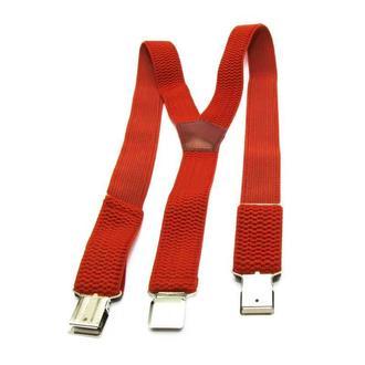 Удлиненные (баталы) подтяжки Gofin красные Y образные 4 см (4672)