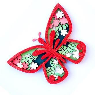 """3D раскраска из дерева для творчества """"Бабочка"""" для детей и взрослых"""