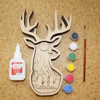 """3D раскраска из дерева для творчества """"Гарри Поттер"""", серия Сказки, для детей и взрослых"""