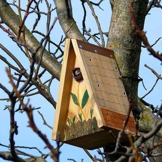 """Будиночок для птахів синичник, конструктор """"Збери та розфарбуй сам"""" - набір деталей"""