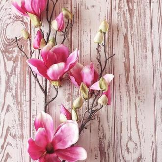 Деревянный фотофон розовый прованс