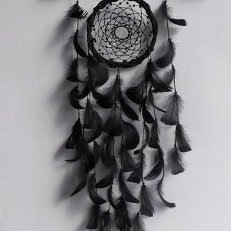 Черный ловец снов. Индейский амулет.