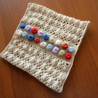 Cнуд-шарф вязаный крючком