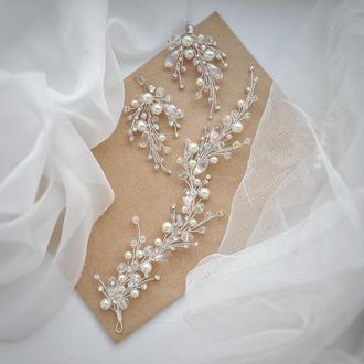 Свадебное украшение для волос, украшение для волос, веточка в прическу, украшения для невесты