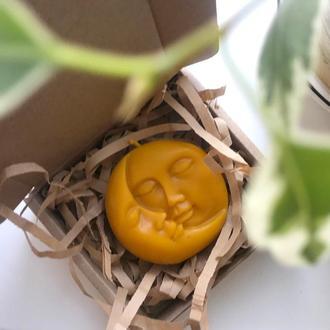 """Свеча из пчелиного воска """"Moon & Sun"""", подарочная соевая свеча """"Луна и Солнце"""""""