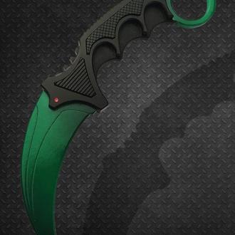 Нож деревянный КС ГО Керамбит Изумруд (CS GO Karambit Gamma Doppler Emerald)