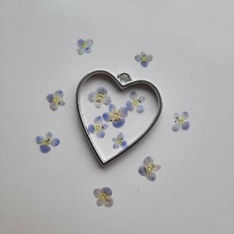 """Маленькие цветы """"Вероника"""", до 1 см, набор из 5 шт."""