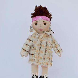 Кукла с модной одеждой, Кукла в подарок, Тряпичная игрушка