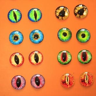 Стеклянные глазки для игрушек