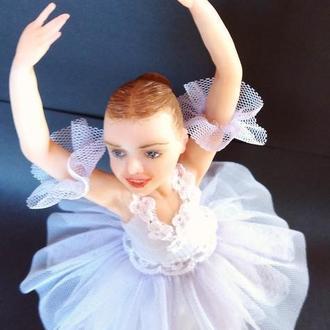 Кукла балерина в лавандовой пачке