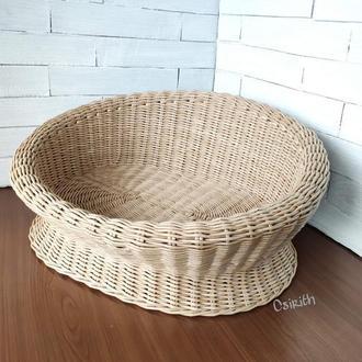 Плетеный лежак, плетеное место для кота, кошки или маленькой собаки