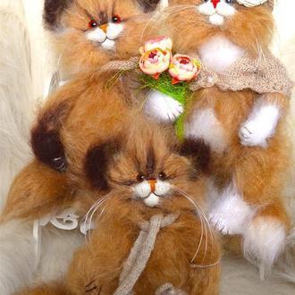 Семья Кошек,декоративные игрушки символ благополучия семьи