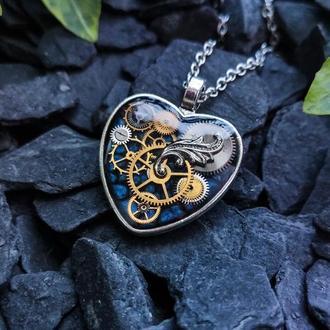 (наявність в травні 1-2 шт.) Кулон серце в стилі steampunk варіант №1