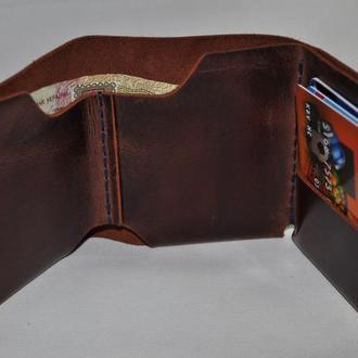 Кожаный мужской кошелёк .