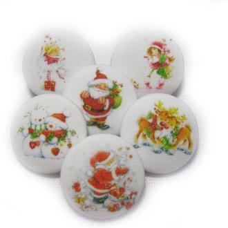Милые пуговки - новогодние -для декора