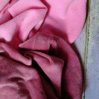 Набор хлопкового велюра розовый и чайная роза