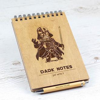 Именной блокнот с именной ручкой. Подарочный комплект.