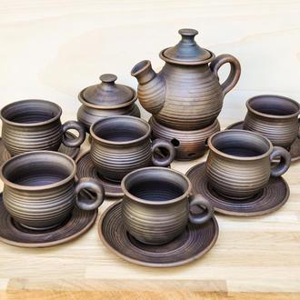 Чайний набір гончарний на 6 осіб