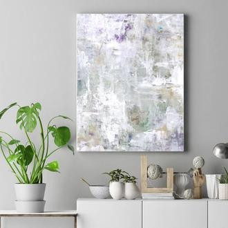 Абстрактная картина в светлых тонах. Постер