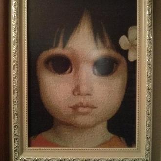 Картина Маргарет Ким « Девочка с большими глазами»