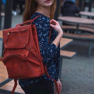 Рюкзак для путешествий из натуральной кожи