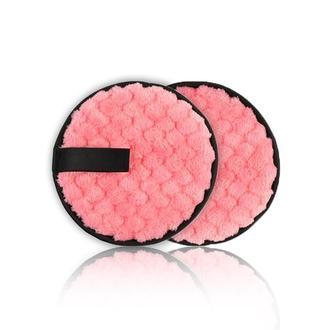Многоразовый двухсторонний спонж для удаления без использования средств, розовый (с черным)
