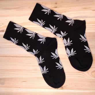 Носки с принтом «Листья марихуаны» Push IT