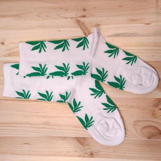 Носки с принтом «Зеленые листья марихуаны» Push IT