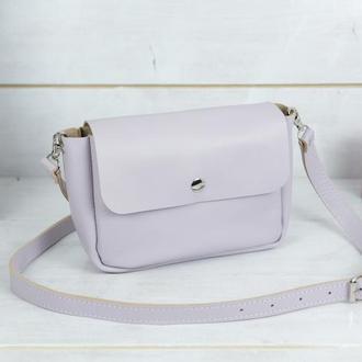 """Кожаная женская сумочка """"Макарун XL"""", гладкая кожа, цвет лиловый"""