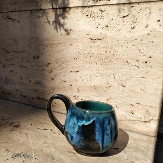 """Чашка """"Ночное море"""" ручной работы"""