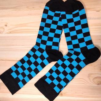 Носки с принтом «Синие квадраты» Push IT