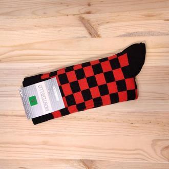 Носки с принтом «Красные квадраты» Push IT