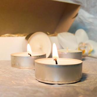 Чайные свечи из соевого воска (10 шт)