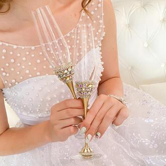 Свадебные бокалы «Золотой шик»