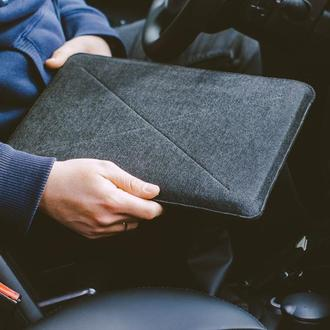 Черный защитный чехол для макбука из войлока, веган чехол для Macbook Air  13 Pro 15 16 2020
