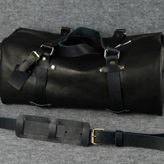 Именная спортивная сумка «Travel» |10156| Черный
