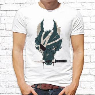 Мужская футболка Push IT с принтом Волк размер L