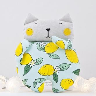 Игрушка кот лимон, Декор в детскую, Подарок на день матери