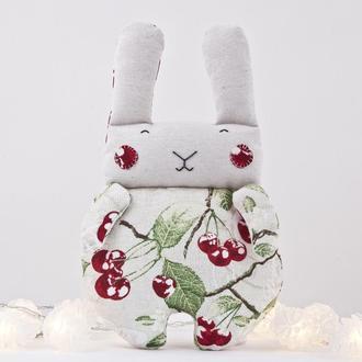 Мягкая игрушка зайчик, декор в детскую, подарок на день маетри