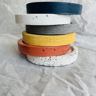 декоративное блюдце из бетона