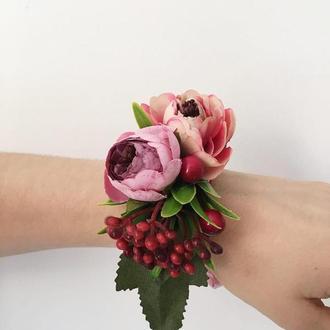 Браслеты-бутоньерки для подружек невесты