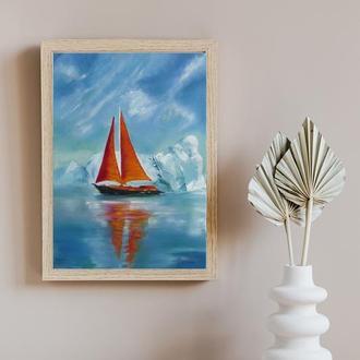 Морской пейзаж,  картина маслом