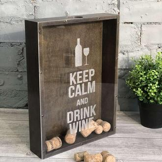 Копилка-рамка для винных пробок