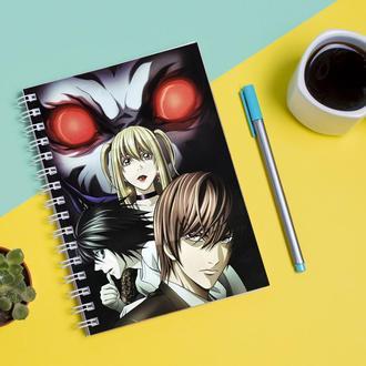 """Скетчбук (Sketchbook) для рисования с принтом """"Death Note - Тетрадь смерти 2"""""""