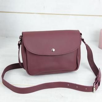 Кожаная женская сумочка Мия, кожа Grand, цвет бордо