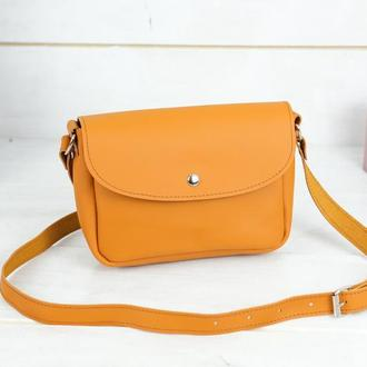 Шкіряна жіноча сумочка Мія, шкіра Grand, колір бурштин