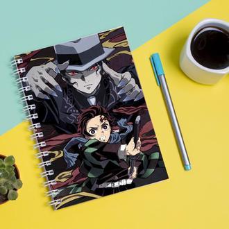 """Скетчбук (Sketchbook) для рисования с принтом """"Demon Slayer-Клинок, рассекающий демонов 6"""""""